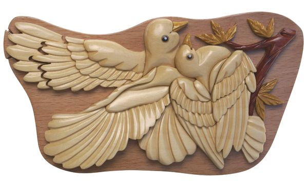 Love Birds Handmade Puzzle Box