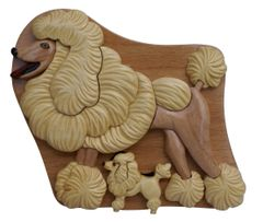 Poodle Wooden Secret Puzzle Box