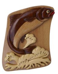 Alaskan Salmon Wooden Puzzle Box