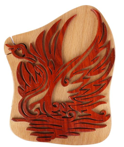 Swan Wooden Secret Puzzle Box