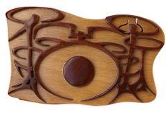 Drums Pic Box Wooden Secret Puzzle Box