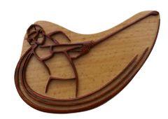 Golf Man Tribal Art Wooden Secret Puzzle Box
