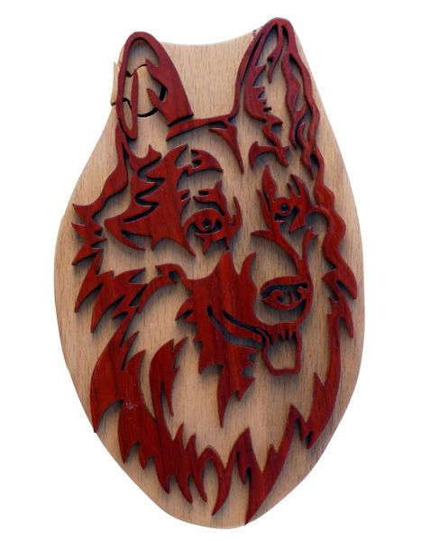 Husky Dog handmade Puzzle Box with Hidden Compartment