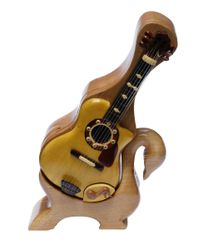 Acoustic Guitar Pic Box Swan Stand