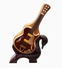Electric Guitar Pic Box & Swan Stand