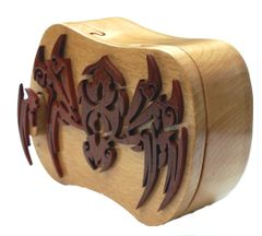 Black Widow Spider Tribal Art Puzzle Box