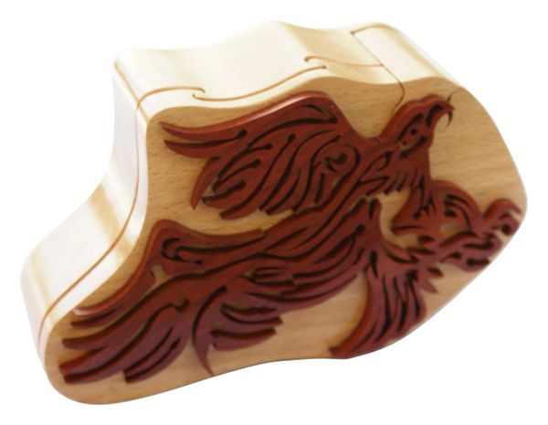 Bald Eagle Tribal Art Puzzle Box