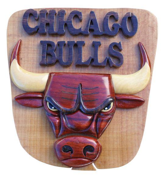 Chicago Bulls Intarsia Puzzle Box