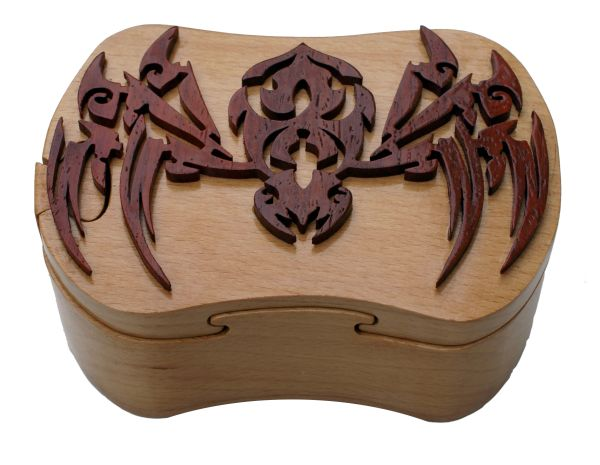 Black Widow Spider Tribal Art Puzzle Box