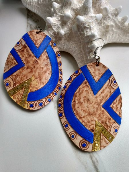 Leather Designed Earrings