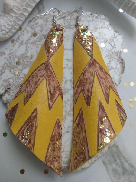 Leather Designed Earrings