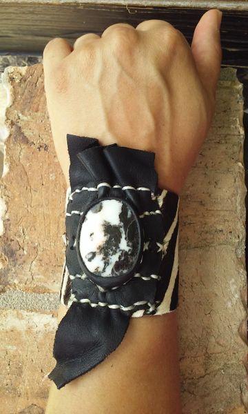 Zebra cowhide leather Zebra Jasper stone