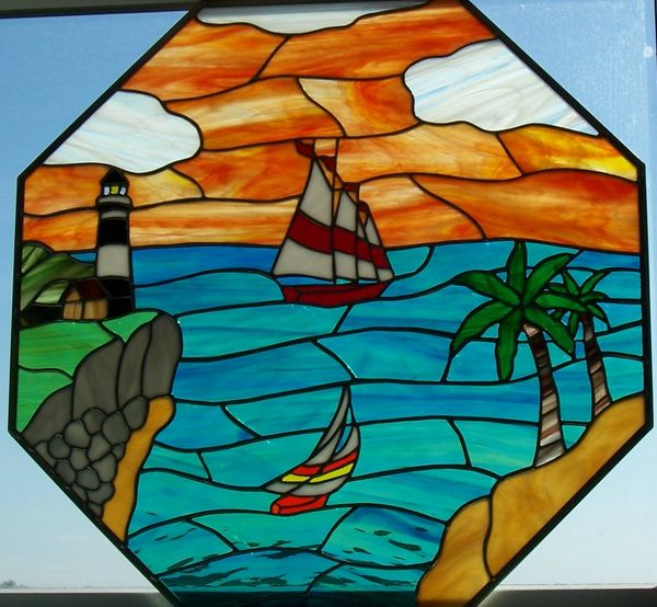Lighthouse octagon window