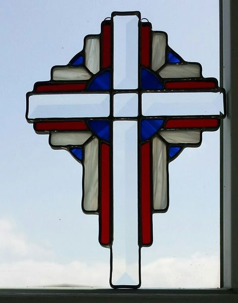 Sunburst cross, large