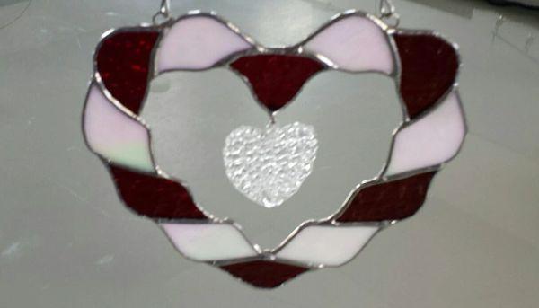 Twisted heart suncatcher
