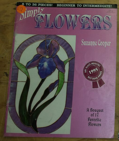 Stained Glass Books - Simply Flowers
