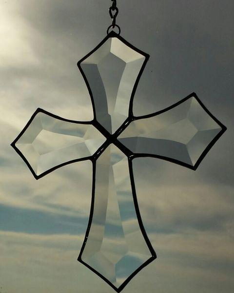 Ornate beveled cross