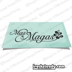 MAS MAGAS HIBISCUS WAVE DECAL