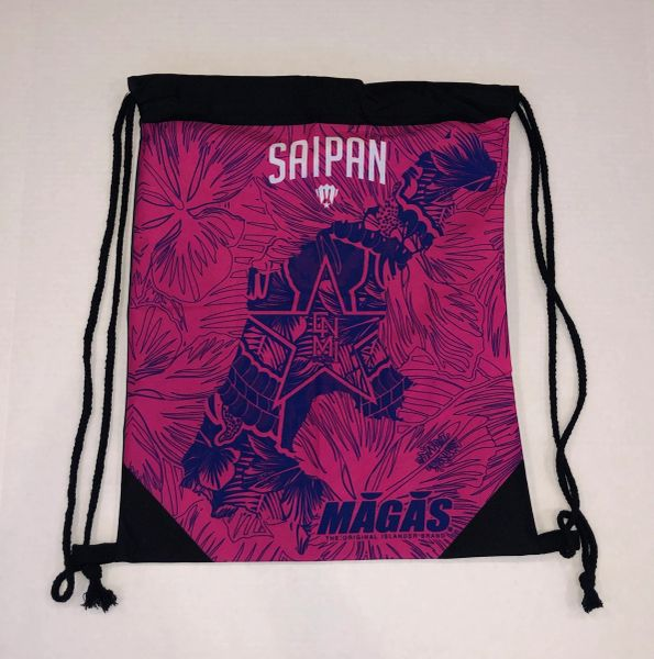 MAGAS (Beautiful Saipan) Drawstring Bag