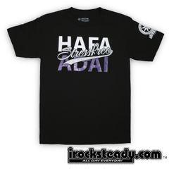 Stressfree (Hafa Adai) Blk/Purple Tee