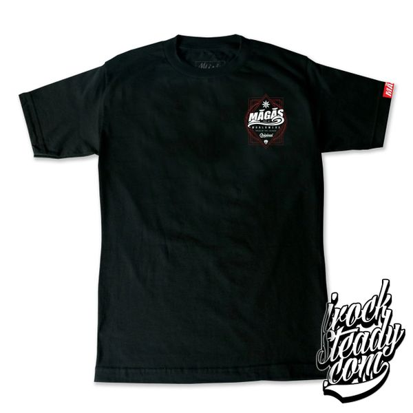 MAGAS (WW Pride of the island) Black/Maroon Tee
