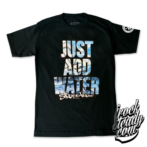STRESSFREE (Just Add Water) Black Tee