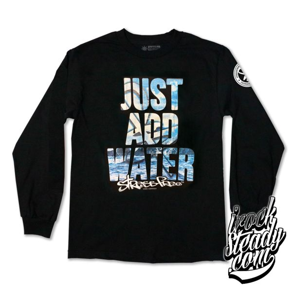 STRESSFREE (Just Add Water) Black Longsleeve