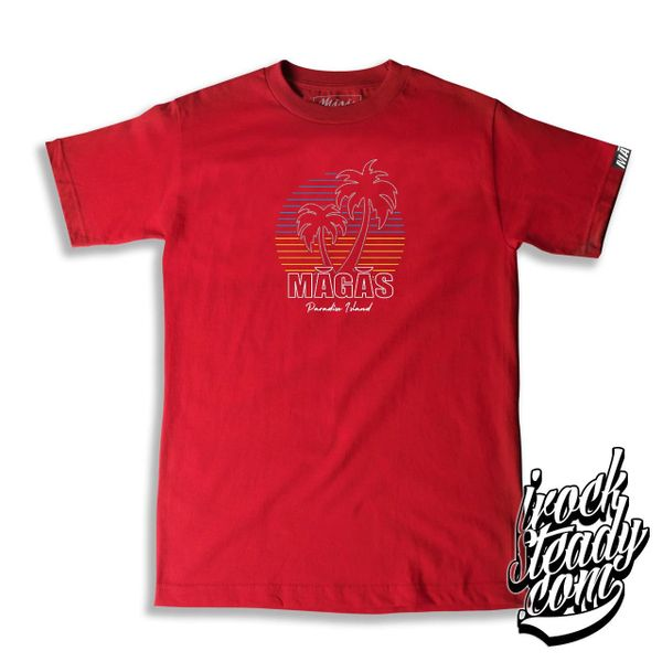 MAGAS (Paradise Island) Red Tee
