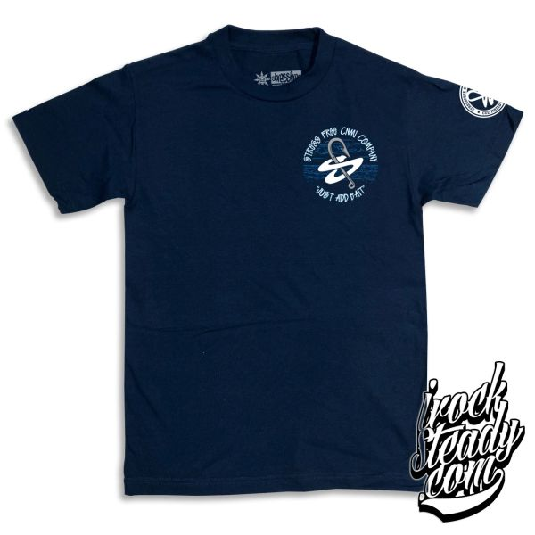 STRESSFREE (Just Add Bait) Navy Tee