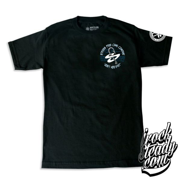 STRESSFREE (Just Add Bait) Black Tee