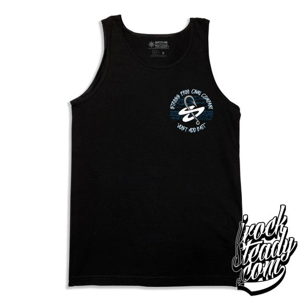 STRESSFREE (Just Add Bait) Black Tanktop