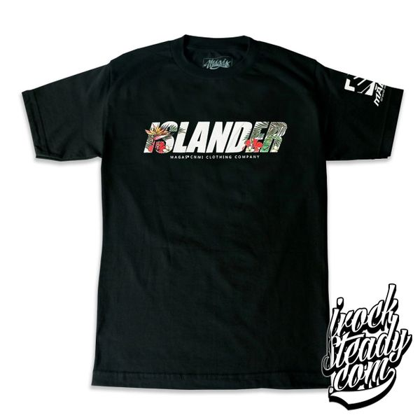 MAGAS (Tropical Islander) Black Tee