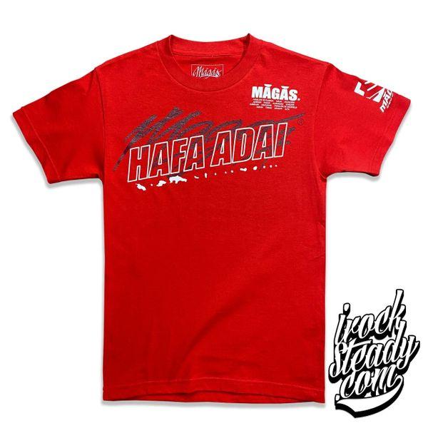 MAGAS (Hafa Adai Chain) Red Tee