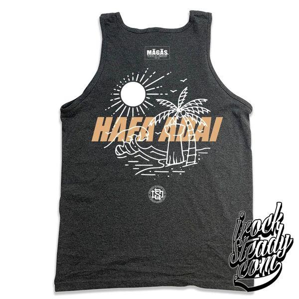DEEPSIDE (Hafa Adai) Charcoal Heather/Khaki Tank Top