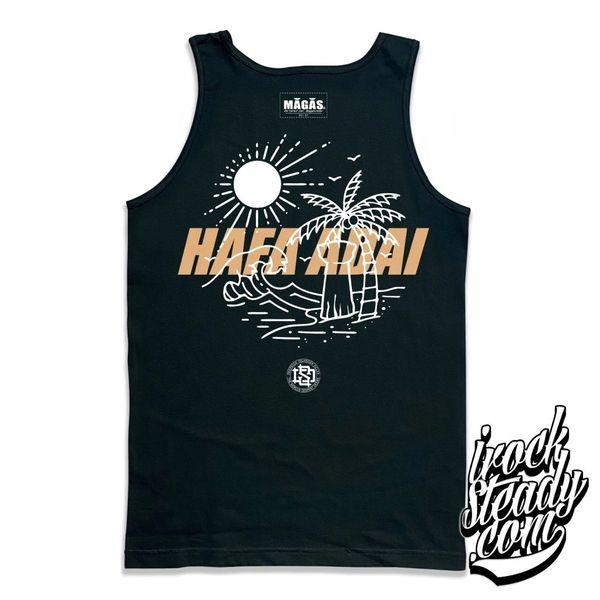 DEEPSIDE (Hafa Adai) Black/Khaki Tank Top