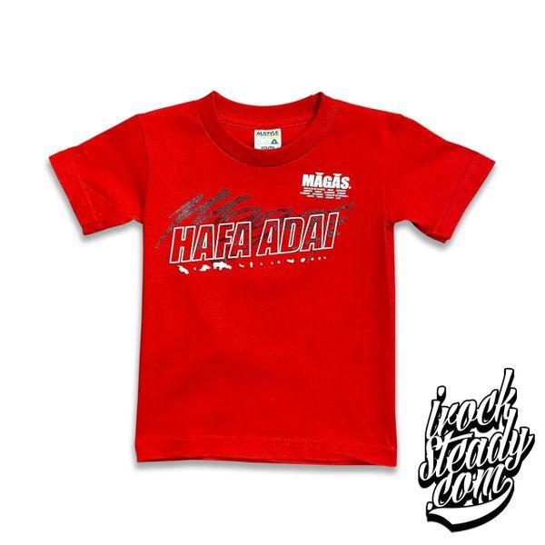 MAGAS (Hafa Adai Chain) Red Youth Tee