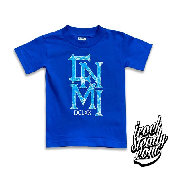 MAGAS (CNMI Floral) Royal Blue Youth Tee