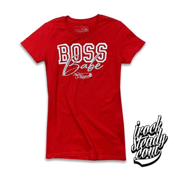 MAS MAGAS (Boss Babe) Red Ladies Tee