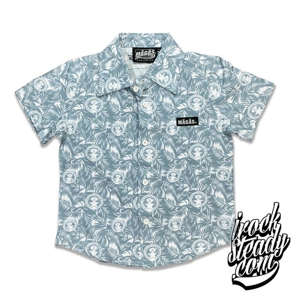 MAGAS (Paradise Seal) Gray Youth Button Shirt