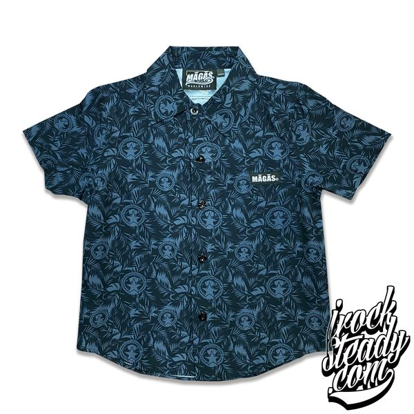MAGAS (Paradise Seal) Black Youth Button Shirt