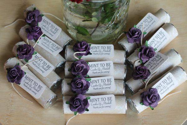 Unique Wedding Favors Purple Wedding Favors Mint To Be Mints Unique Wedding Favors Personalized Wedding Favors Party Favors