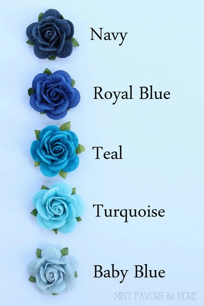 Royal Blue Paper Flowers Wedding Embellishments Paper