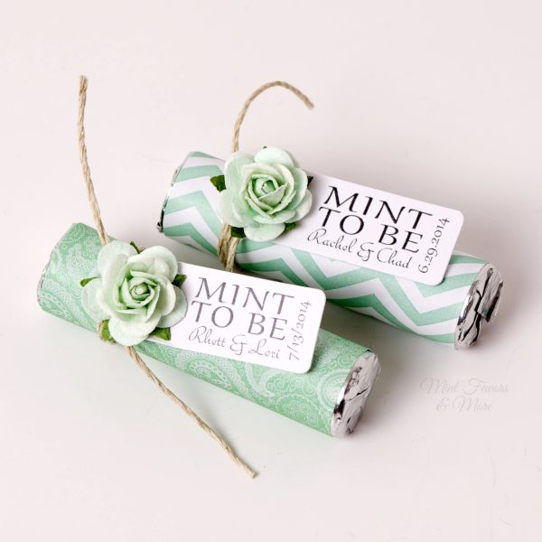 Mint To Be Wedding Favors Wrapped Mint Roll Personalized Mints Unique Wedding Favors Personalized Wedding Favors Party Favors
