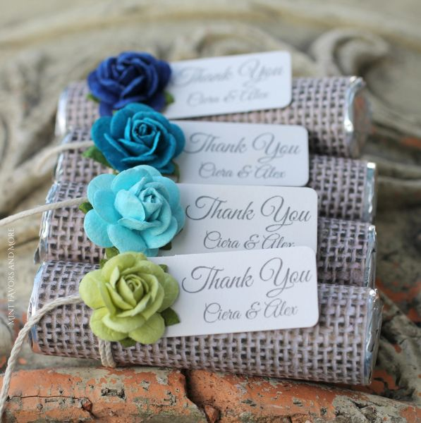 Beach Wedding Favors Sand Style Paper With Pastel Mix Roses