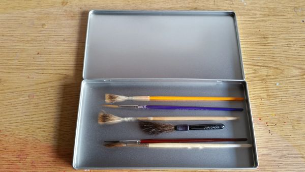 """Lettering Quill """"Seemless"""" Metal Brush Box"""