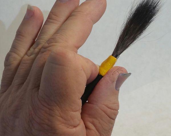 LEFT HANDED # 000 (3-0) Pro-Series Pinstriping brush