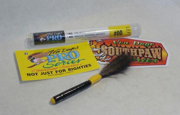 LEFT HANDED # 00 Pro-Series Pinstriping brush