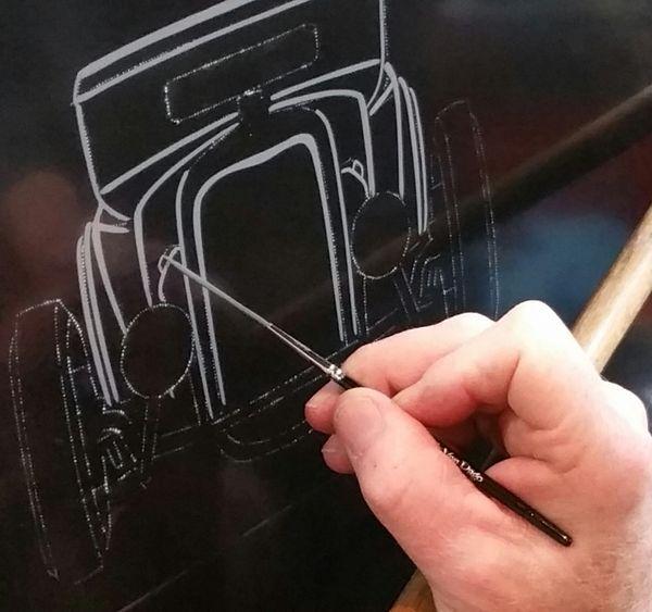 MACK-DAGO Saber Liner 4/0 - Out Lining Lettering brush
