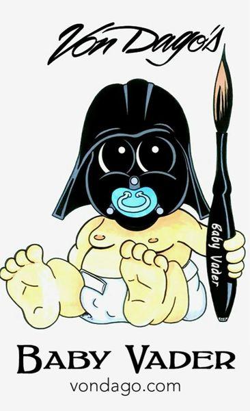 Baby Vader Real Hair - 3 Brush *SET*