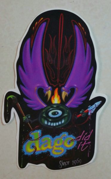 "Von Dago Winged Monster Flying Eyeball ""Sticker"""